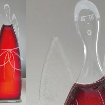 Szklany Anioł wykonany ręcznie