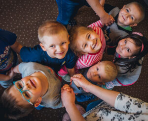 radość przedszkolaków