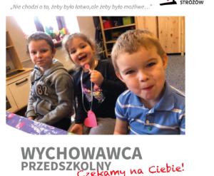 Wychowawca przedszkolny Dom Aniolow Strozow poszukiwany