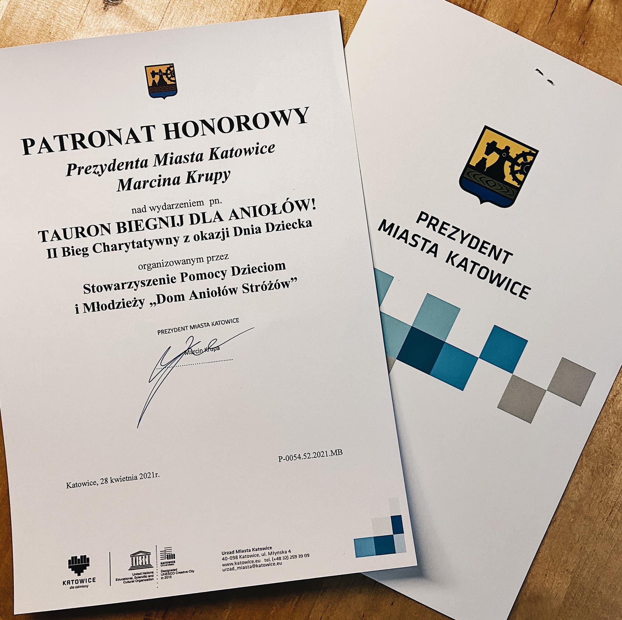 Prezydent Marcin Krupa objął biegnij dla Aniołów patronatem honorowym. Zapisz się!
