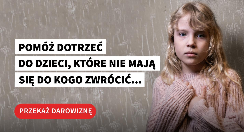 Pomoz dotrzec do Zosi i innych dzieci, ktore nie maja sie do kogo zwrocic. Przekaz darowizne na Dom Aniolow Strozow