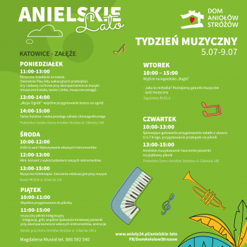 Anielskie Lato 2021 Tydzien Muzyczny Katowice Zaleze