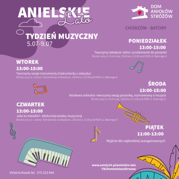 Anielskie Lato 2021 Tydzien Muzyczny Chorzow Batory