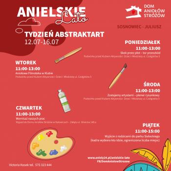 Anielskie Lato Tydzień drugi Tydzień artystyczny ABSTRAKTART Sosnowiec Juliusz