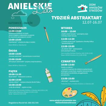 Anielskie Lato Tydzień drugi Tydzień artystyczny ABSTRAKTART Katowice Załęże