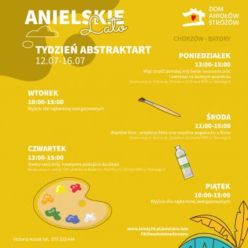 Anielskie Lato Tydzień drugi Tydzień artystyczny ABSTRAKTART Chorzów Batory